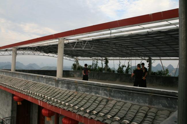Long Tou Shan Tai Chi School Roof Practice1